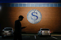 A man arrives to Sayreville's school to hold a Board of Education meeting for discussing the continuity of the coaches involved in scandal of sexual assault by the school's football team in Parlin, New Jersey 10.21.2014. Photo by Eduardo MunozAlvarez/VIEWpress