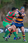 Sosefo Kata tries to rearrange Tekori Luteru's nose as he fends off the tackle. Counties Manukau Premier Club Rugby final between Patumahoe & Waiuku played at Bayers Growers Stadium Pukekohe on Saturday August 8th 2009. Patumahoe won 11 - 9 after leading 11 - 6 at halftime.