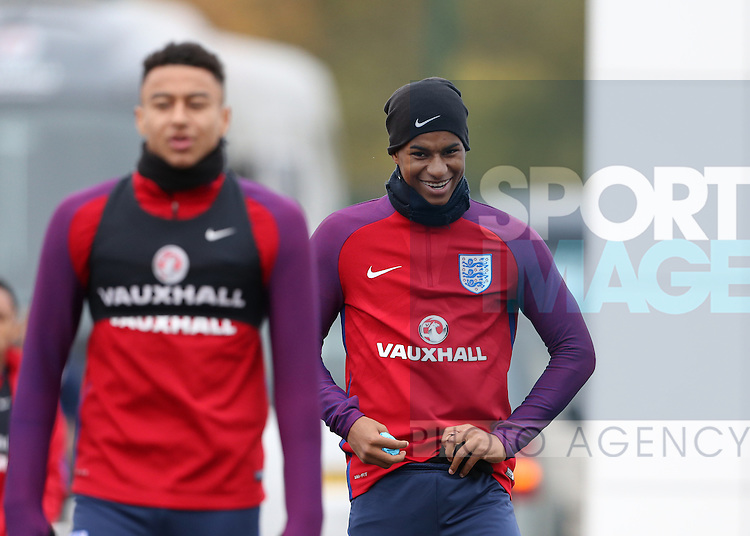 England's Marcus Rashford looks on during training at Tottenham Hotspur training centre, London. Picture date November 14th, 2016 Pic David Klein/Sportimage