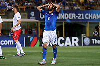 Patrick Cutrone of Italy dejection <br /> Bologna 19/06/2019 Stadio Renato Dall'Ara  <br /> Football UEFA Under 21 Championship Italy 2019<br /> Group Stage - Final Tournament Group A<br /> Italy - Poland <br /> Photo Cesare Purini / Insidefoto