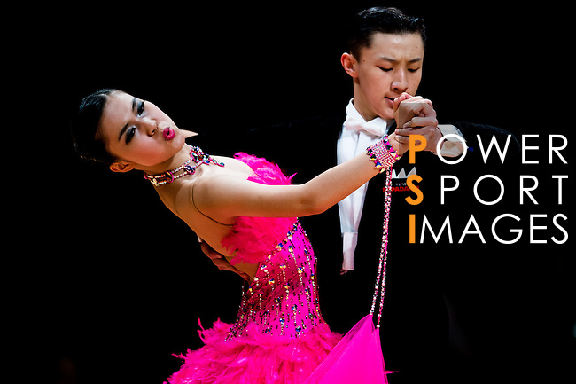 Dancers during the Day 2 of the WDSF GrandSlam Hong Kong 2014 on June 01, 2014 at the Queen Elizabeth Stadium Arena in Hong Kong, China. Photo by AItor Alcalde / Power Sport Images