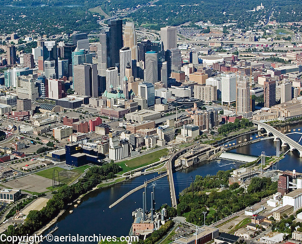 aerial photograph Minneapolis, MN