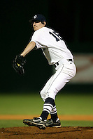 February 21, 2009:  Pitcher Dave Fischer (18) of the University of Connecticut during the Big East-Big Ten Challenge at Jack Russell Stadium in Clearwater, FL.  Photo by:  Mike Janes/Four Seam Images
