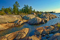 Forest and Precambrian Shield rock along Georgian Bay (Lake Huron)<br />
