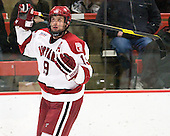 Alex Killorn (Harvard - 19) - The Harvard University Crimson defeated the visiting Clarkson University Golden Knights 3-2 on Harvard's senior night on Saturday, February 25, 2012, at Bright Hockey Center in Cambridge, Massachusetts.