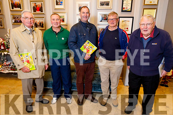 Attending the Kerry GAA County Convention in the Rose Hotel on Tuesday night.<br /> L to r: Teddy Sullivan (Ballyduff), Pat Sheehy (Causeway), Liam Ross (Ballyduff), Tony O'Keeffe (Austin Stacks) and Geeald McKenna (Ballyduff).