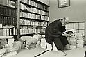 1976, Japan - Husei Tomiyasu was a Japanese Haiku poet. (Photo by Koichi Saito/AFLO)
