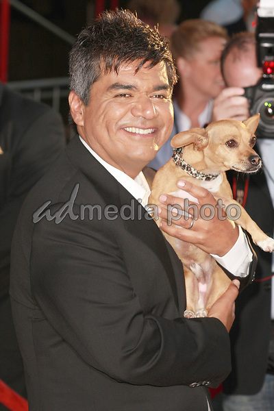 "18 September 2008 - Hollywood, California - George Lopez. ""Beverly Hills Chihuahua"" Los Angeles Premiere held at the El Capitan Theatre. Photo Credit: Charls Harris/AdMedia"