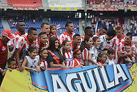 BARRANQUIILLA -COLOMBIA-29-03-2015: Jugadores del Atlético Junior posan para una foto previo al encuentro con Àguilas Doradas por la fecha 12 de la Liga Águila I 2015 jugado en el estadio Metropolitano Roberto Meléndez de la ciudad de Barranquilla./ Players of Atletico Junior pose to a photo prior the match against Aguilas Doradas during match for the second  date of the Aguila League I 2015 played at Metropolitano Roberto Melendez stadium in Barranquilla city.  Photo: VizzorImage/Alfonso Cervantes/STR