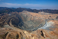 aerial photograph Bingham Canyon Open Pit Copper Mine, Utah