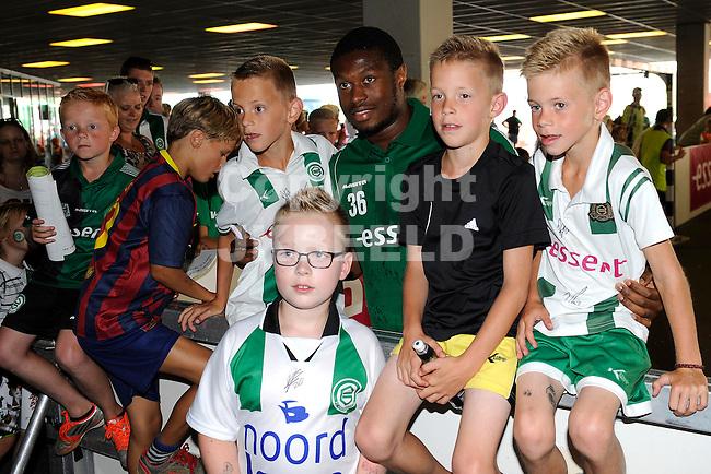 GRONINGEN - Voetbal, Open dag FC Groningen, Euroborg, seizoen 2014-2015, 02-08-2014,  FC Groningen speler Genero Zeefuik