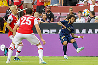Landover, MD - July 23, 2019: Real Madrid Marcelo (12)passes the ball during the match between Arsenal and Real Madrid at FedEx Field in Landover, MD.   (Photo by Elliott Brown/Media Images International)