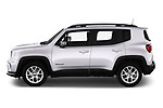 Car Driver side profile view of a 2019 JEEP Renegade Limited 5 Door SUV Side View