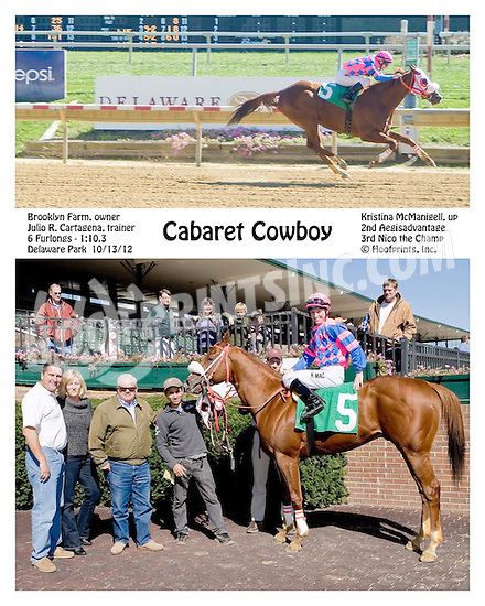 Cabret Cowboy winning at Delaware Park on 10/13/12