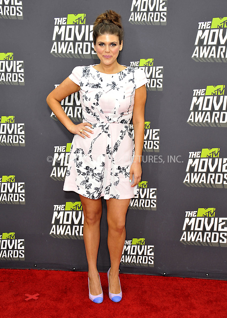 WWW.ACEPIXS.COM....April 14, 2013, Los Angeles, Ca.......Molly Tarlov arriving at the 2013 MTV Movie Awards at Sony Pictures Studios on April 14, 2013 in Culver City, California.......By Line: Peter West/ACE Pictures....ACE Pictures, Inc..Tel: 646 769 0430..Email: info@acepixs.com