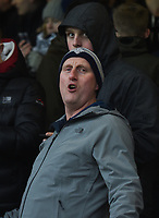 Preston supporter enjoying the pre-match warm up<br /> <br /> Photographer Jonathan Hobley/CameraSport<br /> <br /> The EFL Sky Bet Championship - Brentford v Preston North End - Saturday 10th February 2018 - Griffin Park - Brentford<br /> <br /> World Copyright &copy; 2018 CameraSport. All rights reserved. 43 Linden Ave. Countesthorpe. Leicester. England. LE8 5PG - Tel: +44 (0) 116 277 4147 - admin@camerasport.com - www.camerasport.com