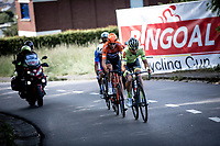 Baptiste Planckaert (BEL/Wallonie Bruxelles), Niki Terpstra (NED/Total Direct Energie) and  Oscar Riesebeek (NED/Roompot Charles) with the decisive break away.<br /> <br /> <br /> Circuit de Wallonie 2019<br /> One Day Race: Charleroi – Charleroi 192.2km (UCI 1.1.)<br /> Bingoal Cycling Cup 2019