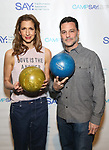 Alysia Reiner and David Alan Basche attends the Paul Rudd hosts the Sixth Annual Paul Rudd All Star Bowling Benefit for (SAY) on January 22, 2018 at the Lucky Strike Lanes in New York City.
