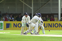 30/05/2002.Sport -Cricket - 2nd NPower Test -First Day.England vs Sri Lanka.Sanath Jayasuriya batting Alex Stewart keeping wicket [Mandatory Credit Peter Spurrier:Intersport Images]
