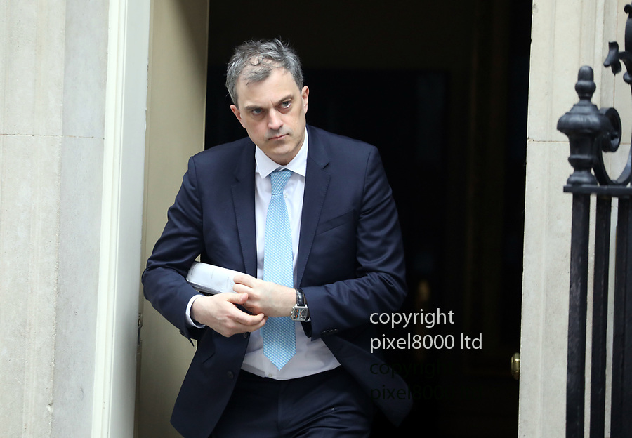 Pic shows: Downing Street today  <br /> Chief Whip Julien Smith<br /> <br /> <br /> <br /> pic by Gavin Rodgers/Pixel8000<br /> 13.3.19