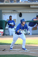 Alex Verdugo (16) of the Rancho Cucamonga Quakes bats during a game against the Inland Empire 66ers at LoanMart Field on September 6, 2015 in Rancho Cucamonga, California. Rancho Cucamonga defeated Inland Empire, 10-6. (Larry Goren/Four Seam Images)