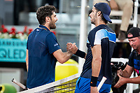 Spanish Pablo Andújar and Spanish Feliciano Lopez during Mutua Madrid Open 2018 at Caja Magica in Madrid, Spain. May 07, 2018. (ALTERPHOTOS/Borja B.Hojas) /NortePhoto.com