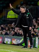 6th February 2019, Celtic Park, Glasgow, Scotland; Ladbrokes Premiership football, Celtic versus Hibernian; Eddie May caretaker Hibernian Manager sends in instructions