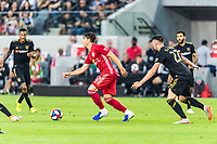 Los Angeles, CA - August 11, 2019.  LAFC defeated the New York Red Bulls 4-2  in a MLS match at Banc of California stadium in Los Angeles.