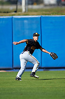 Bethune-Cookman Wildcats outfielder Jake Hellweg (12) during practice before a game against the Wisconsin-Milwaukee Panthers on February 26, 2016 at Chain of Lakes Stadium in Winter Haven, Florida.  Wisconsin-Milwaukee defeated Bethune-Cookman 11-0.  (Mike Janes/Four Seam Images)