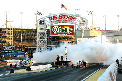 01.04.2016. Las Vegas, Nevada, USA. Overview of jet dragsters in action during the DENSO Spark Plugs NHRA Nationals at The Strip at Las Vegas Motor Speedway in Las Vegas, NV.