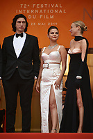 Adam Diver, Selena Gomez, Chloe Sevigny<br /> The Dead Don't Die' premiere and opening ceremony, 72nd Cannes Film Festival, France - 14 May 2019<br /> CAP/PL<br /> &copy;Phil Loftus/Capital Pictures