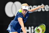 9th January 2018, Sydney Olympic Park Tennis Centre, Sydney, Australia; Sydney International Tennis, round 1; Daria Gavrilova (AUS) stretches for the ball in her match against Olivia Rogowska (AUS)