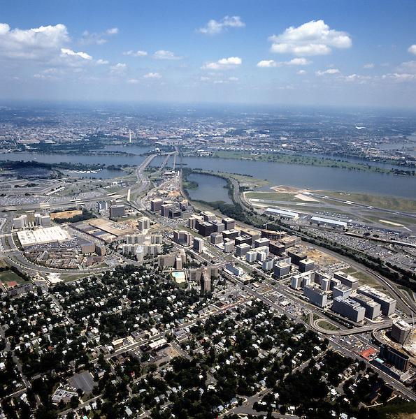 Aerial of Crystal City Virginia Washington DC