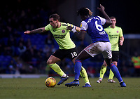 Ipswich Town's Trevoh Chalobah battles with Sheffield United's Billy Sharp<br /> <br /> Photographer Hannah Fountain/CameraSport<br /> <br /> The EFL Sky Bet Championship - Ipswich Town v Sheffield United - Saturday 22nd December 2018 - Portman Road - Ipswich<br /> <br /> World Copyright © 2018 CameraSport. All rights reserved. 43 Linden Ave. Countesthorpe. Leicester. England. LE8 5PG - Tel: +44 (0) 116 277 4147 - admin@camerasport.com - www.camerasport.com