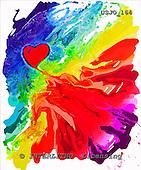 Marie, MODERN, MODERNO, paintings+++++,USJO164,#N# Joan Marie abstract heart