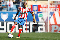 01.04.2012 MADRID, SPAIN -  La Liga match played between At. Madrid vs Getafe (3-0) at Vicente Calderon stadium. the picture show Luis Amaranto Perea (Colombian defender of At. Madrid)