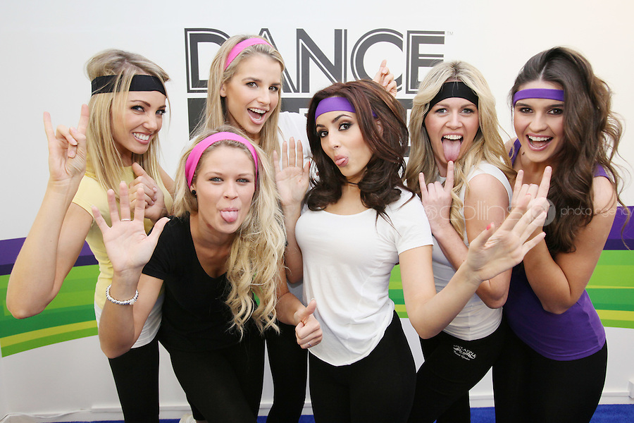 """NO REPRO FEE. ASSETTS MODELS DANCE WITH THE  KINECT FOR Xbox360. Six of Ireland's top models got their groove on at the Kinect Experiential Centre on Grafton Street as they showed off their moves in a dance-off. Nadia Forde, Suzanne Mc Cabe, Lynne Kelly, Vogue Wilson, Karena Graham and Jenny Lee let loose on the dancefloor to 'Dance Central', with Nadia Forde proving to be the Dancing Queen as she emerged victorious on the day. 'Dance Central' is one of 19 games which will be available on Xbox 360, when Kinect launches on Wednesday 10thNovember. """"Dance Central"""" is the first controller-free, body tracking, fully-immersive dance video game that helps you take your moves to the next level. Kinect for Xbox 360 makes it possible to play in a whole new way by identifying your movement and body position to create a truly immersive entertainment experience. See a ball? Just kick it. Browse through a menu with the wave of a hand. The countdown to Kinect for Xbox360 has officially begun and consumers have been enjoying Kinect controller free fun at the Experiential Centre on Grafton since the beginning of October Picture James Horan/collins Photos"""