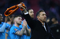 Barnet manager Darren Currie celebrates their victory after Sheffield United vs Barnet, Emirates FA Cup Football at Bramall Lane on 6th January 2019
