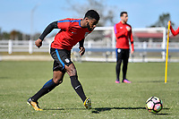 Lakewood Ranch, FL - Sunday Jan. 07, 2018: Zyen Jones during an U-19 USMNT training session at Premier Sports Campus in Lakewood Ranch, FL.