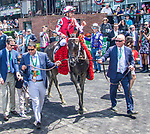 JUNE 08, 2019 : Midnight Bisou, with , wins the Ogden Phipps, at Belmont Park, in Elmont, NY, June 8, 2019.  Sue Kawczynski_ESW_CSM