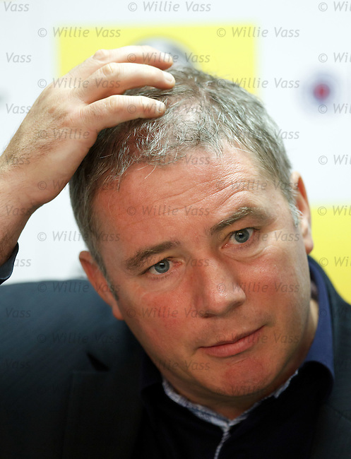 Ally McCoist at his pre-match press conference