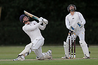 J Hebron hits 6 runs for Brentwood during Brentwood CC vs Ilford CC, Shepherd Neame Essex League Cricket at The Old County Ground on 8th June 2019