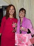 Christine Carr and Gwen Lannigan who attended the 'Pink & Bling' in aid of breast cancer awareness at the Black Bull. Photo:Colin Bell/pressphotos.ie