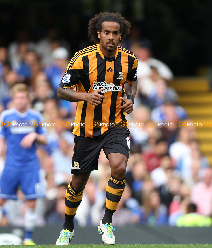 Tom Huddlestone of Hull - Chelsea vs Hull City, Barclays Premier League at Stamford Bridge, Chelsea - 18/08/13 - MANDATORY CREDIT: Rob Newell/TGSPHOTO - Self billing applies where appropriate - 0845 094 6026 - contact@tgsphoto.co.uk - NO UNPAID USE
