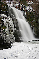 Sgwd Clun-Gwyn Waterfall in early winter, River Mellte, Wales