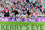 Paul Geaney Kerry in action against Brendan Harrison Mayo in the All Ireland Semi Final Replay in Croke Park on Saturday.