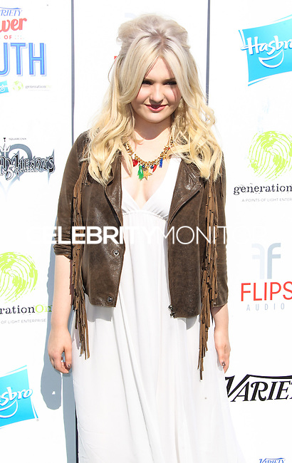 UNIVERSAL CITY, CA - JULY 27: Abigail Breslin attends Variety's Power of Youth presented by Hasbro and GenerationOn at Universal Studios Backlot on July 27, 2013 in Universal City, California. (Photo by Celebrity Monitor)