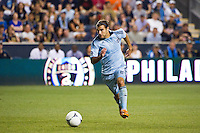 Graham Zusi (8) of Sporting Kansas City. Sporting Kansas City defeated the Philadelphia Union 2-0 during the semifinals of the 2012 Lamar Hunt US Open Cup at PPL Park in Chester, PA, on July 11, 2012.