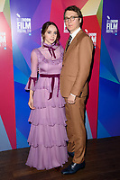 """Zoe Kazan and Paul Dano<br /> arriving for the London Film Festival screening of """"Wildlife"""" at the Cineworld Leicester Square, London<br /> <br /> ©Ash Knotek  D3442  13/10/2018"""
