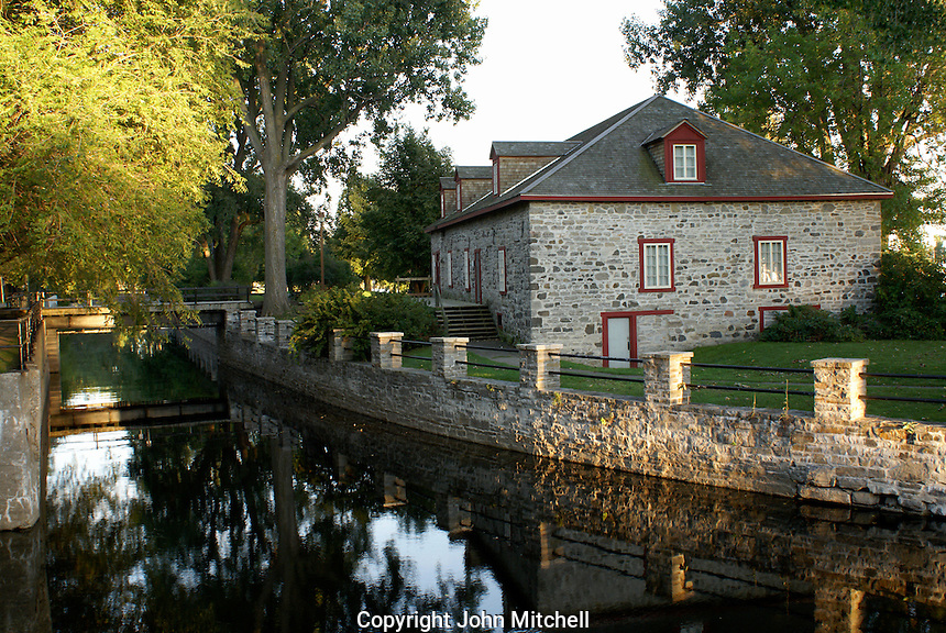 The Fur Trade Museum and Lachine Canal at Lachine National Historic Site, Montreal, Quebec, Canada